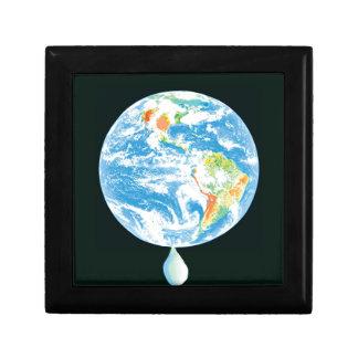 Calentamiento del planeta cajas de joyas