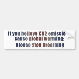 Calentamiento del planeta etiqueta de parachoque