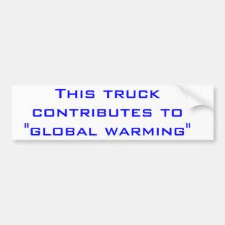 Calentamiento del planeta pegatina para auto