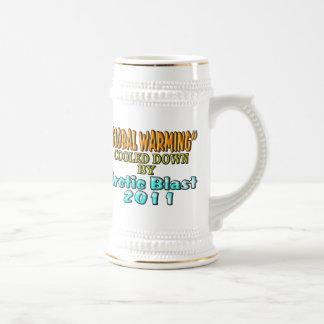 Calentamiento del planeta calmado por la ráfaga tazas de café