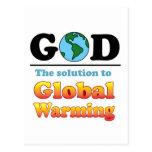 Calentamiento del planeta de dios postal
