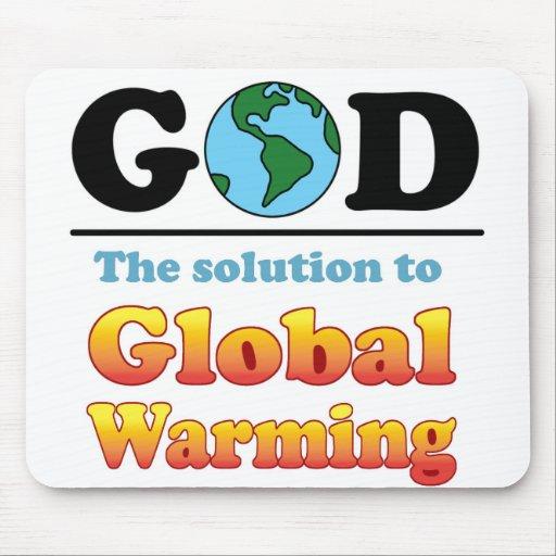 Calentamiento del planeta de dios alfombrilla de raton