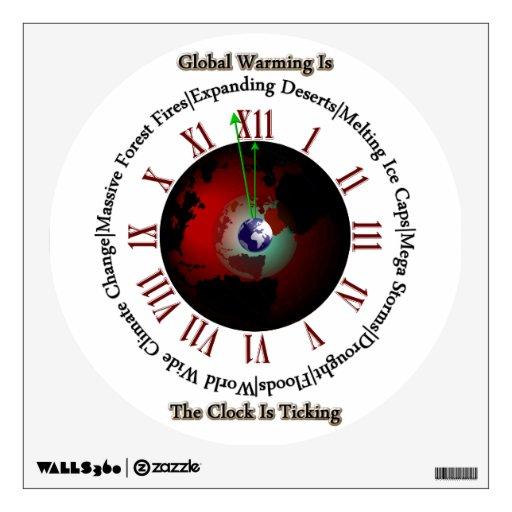 Calentamiento del planeta - el tiempo está corrien