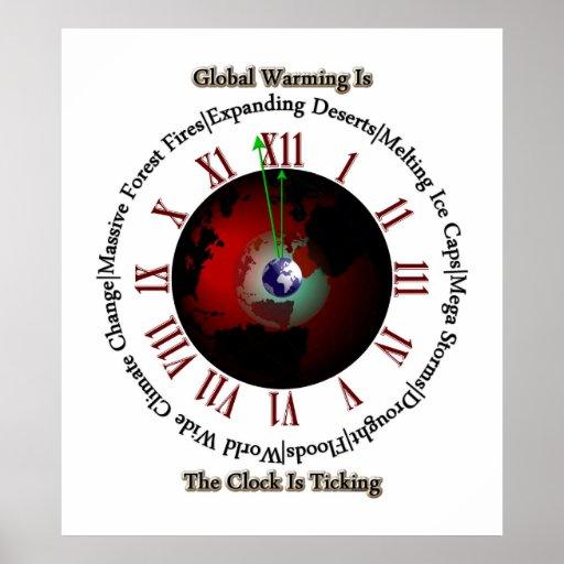 Calentamiento del planeta - el tiempo está funcion posters