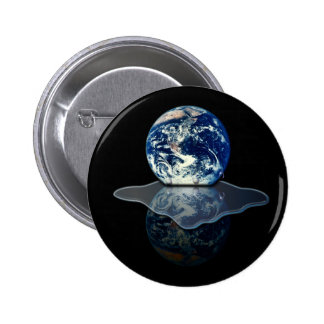 Calentamiento del planeta I Pin Redondo 5 Cm