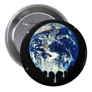Calentamiento del planeta II Pin Redondo 7 Cm