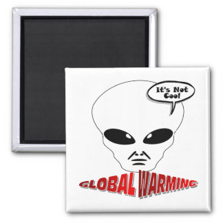 Calentamiento del planeta imán cuadrado