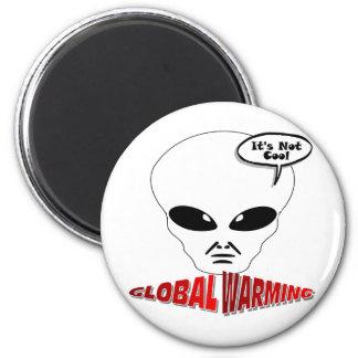 Calentamiento del planeta imán redondo 5 cm