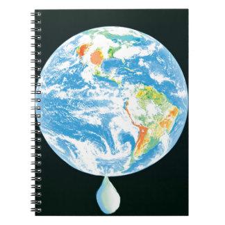 Calentamiento del planeta libro de apuntes con espiral
