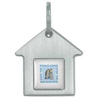 Calentamiento del planeta, pingüinos placa mascota