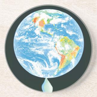 Calentamiento del planeta posavasos personalizados