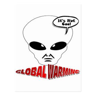 Calentamiento del planeta postal