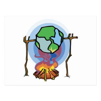 Calentamiento del planeta postales
