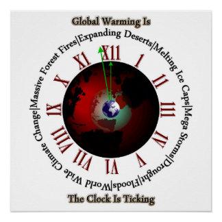 Calentamiento del planeta - poster perfecto de Tis Perfect Poster
