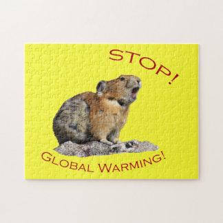 Calentamiento del planeta puzzle con fotos