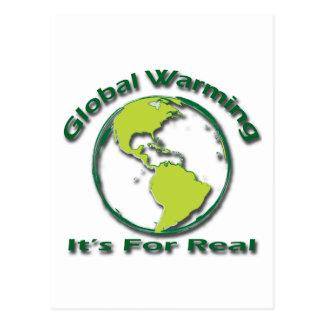 Calentamiento del planeta su para el verde real tarjetas postales