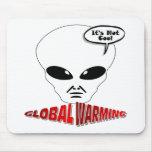 Calentamiento del planeta tapete de raton