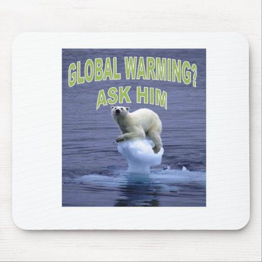 Calentamiento del planeta tapetes de ratones
