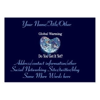 Calentamiento del planeta tarjetas de visita grandes