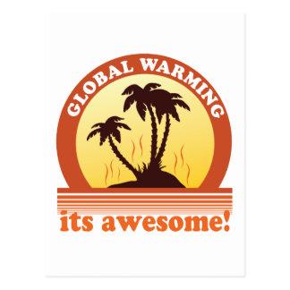 calentamiento del planeta tarjeta postal