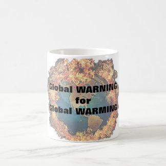 Calentamiento del planeta taza de café