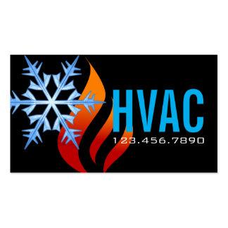 Calentando y refrescándose, HVAC del aire Tarjetas De Visita