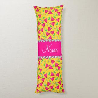 Cales rosadas amarillas conocidas de encargo del cojin cama
