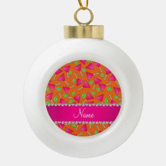 Cales rosadas anaranjadas conocidas de encargo del adorno de cerámica en forma de bola