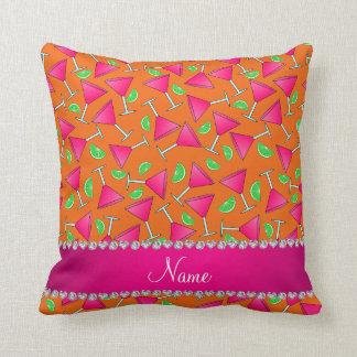 Cales rosadas anaranjadas conocidas de encargo del cojines