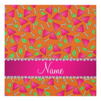 Cales rosadas anaranjadas conocidas de encargo del cuadro