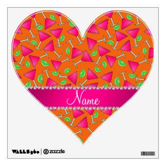 Cales rosadas anaranjadas conocidas de encargo del vinilo decorativo