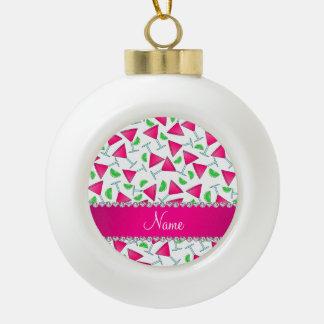 Cales rosadas blancas conocidas de encargo del adorno de cerámica en forma de bola
