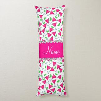 Cales rosadas blancas conocidas de encargo del cojin cama