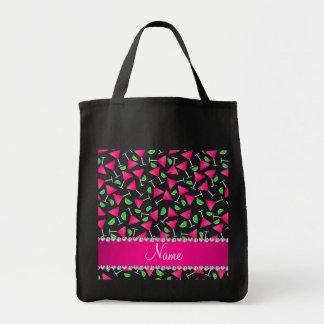 Cales rosadas blancas conocidas de encargo del bolsa tela para la compra