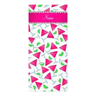 Cales rosadas blancas conocidas de encargo del tarjeta publicitaria