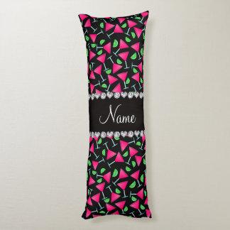 Cales rosadas negras conocidas de encargo del cojin cama