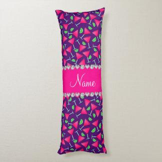 Cales rosadas púrpuras conocidas de encargo del cojin cama