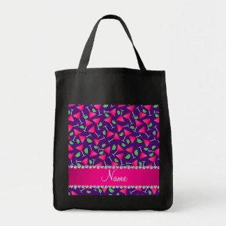 Cales rosadas púrpuras conocidas de encargo del bolsa tela para la compra
