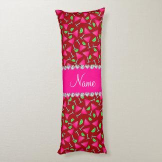 Cales rosadas rojas conocidas de encargo del cojin cama