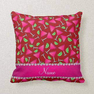 Cales rosadas rojas conocidas de encargo del almohadas