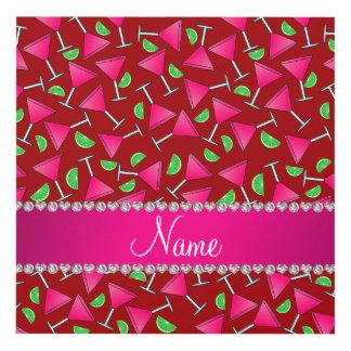 Cales rosadas rojas conocidas de encargo del cuadro