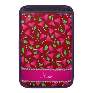 Cales rosadas rojas conocidas de encargo del funda para macbook air