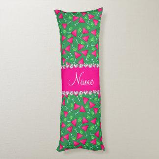 Cales rosadas verdes conocidas de encargo del cojin cama