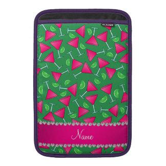 Cales rosadas verdes conocidas de encargo del funda macbook air
