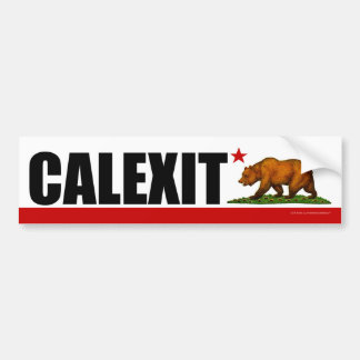 CALEXIT California Bear Flag Bumper Sticker