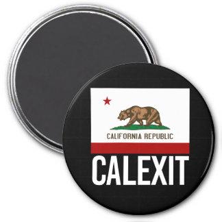 Calexit - California Exit Flag white  - -  Magnet