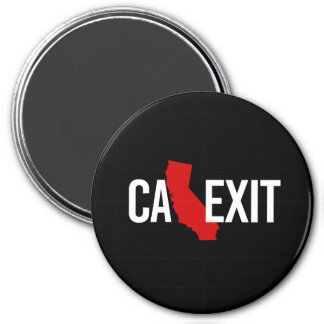 Calexit - California Exit - red white - -  Magnet