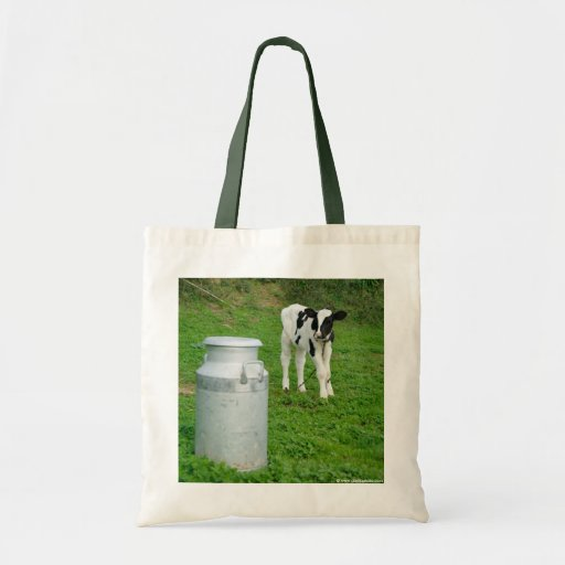 Calf and milk urn canvas bags