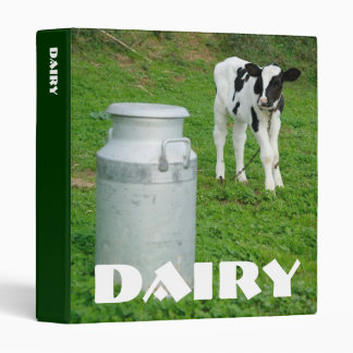 Calf and milk urn vinyl binder