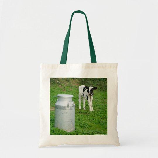 Calf and milk urn tote bag